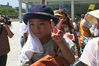 Boy at peace festival